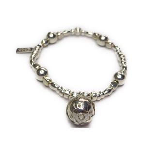 Sterling Silver and Mixed Metal Ball Bracelet with Dreamball