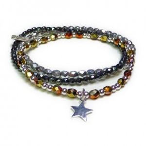 Faceted California Gold Rush Star Stack