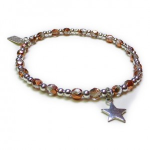 Faceted Copper & Sterling Silver Glitterball with Star