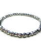 Faceted Czech Silver  Stacking Bracelet