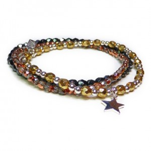 Faceted Gold Glitterball Star Stack