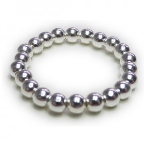 Sterling Silver Ball Ring For Stacking
