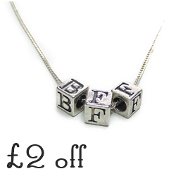 £2 Off the BFF Sterling Silver Cube Necklace by Jacy & Jools