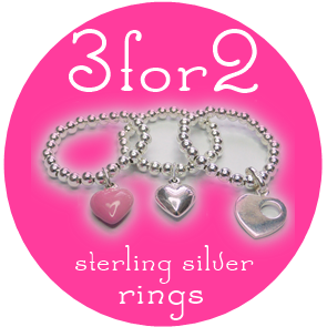 3 for 2 Offer on Sterling Silver Rings with 50 Treats to Christmas from Jacy & Jools