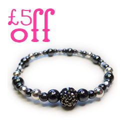 £5 Off The Glitterball Pave Bracelet by Jacy & Jools with 50 Treats to Christmas