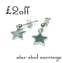 £2 Off Our Sterling Silver Star Stud Earrings With 50 Treats to Christmas