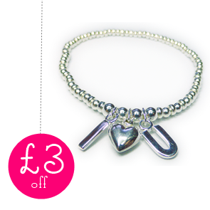 £3 Off The Sweetheart Bracelet with 50 Treats to Christmas from Jacy & Jools