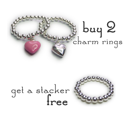 Free Sterling Silver Stacker Ring in Jacy & Jools 50 Treats to Christmas