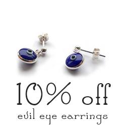 Sterling Silver Evil Eye Earrings Jacy & Jools Treat of the Day