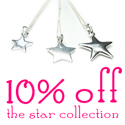 Star Collection of Sterling Silver Charm Necklaces by Jacy & Jools