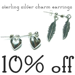Sterling Silver Charm Earrings by Jacy & Jools
