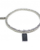 Sterling Silver Mini Ball Bracelet with XOXO Charm