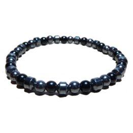 Hematite, Onyx & Cone Bracelet for Men