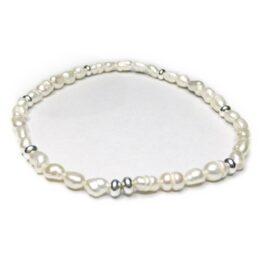 Freshwater Nugget Pearl & Sterling Silver Bridal Bracelet